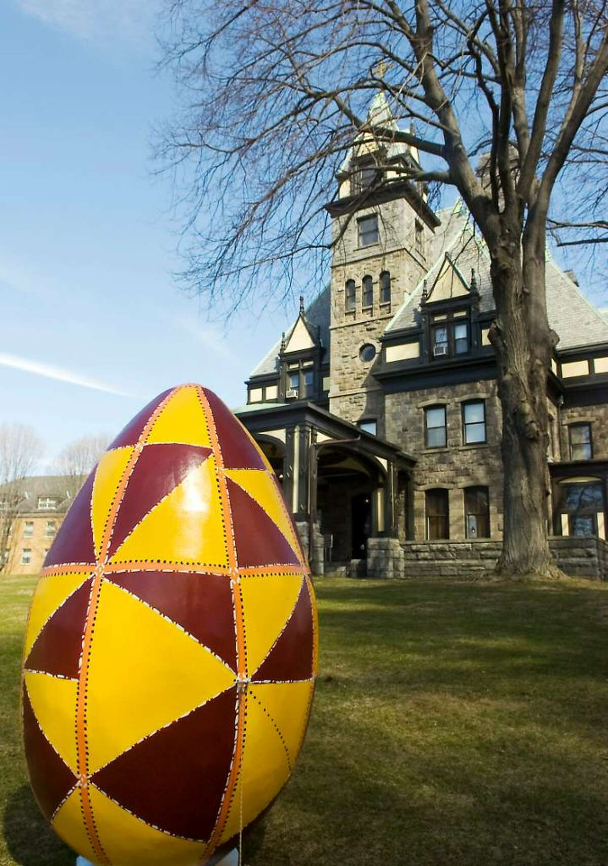"""The Ukrainian Museum and Library of Stamford presents """"Pysanka, The Ukrainian Easter Egg"""" exhibit in Stamford, Conn. on Thursday, March 18, 2010."""