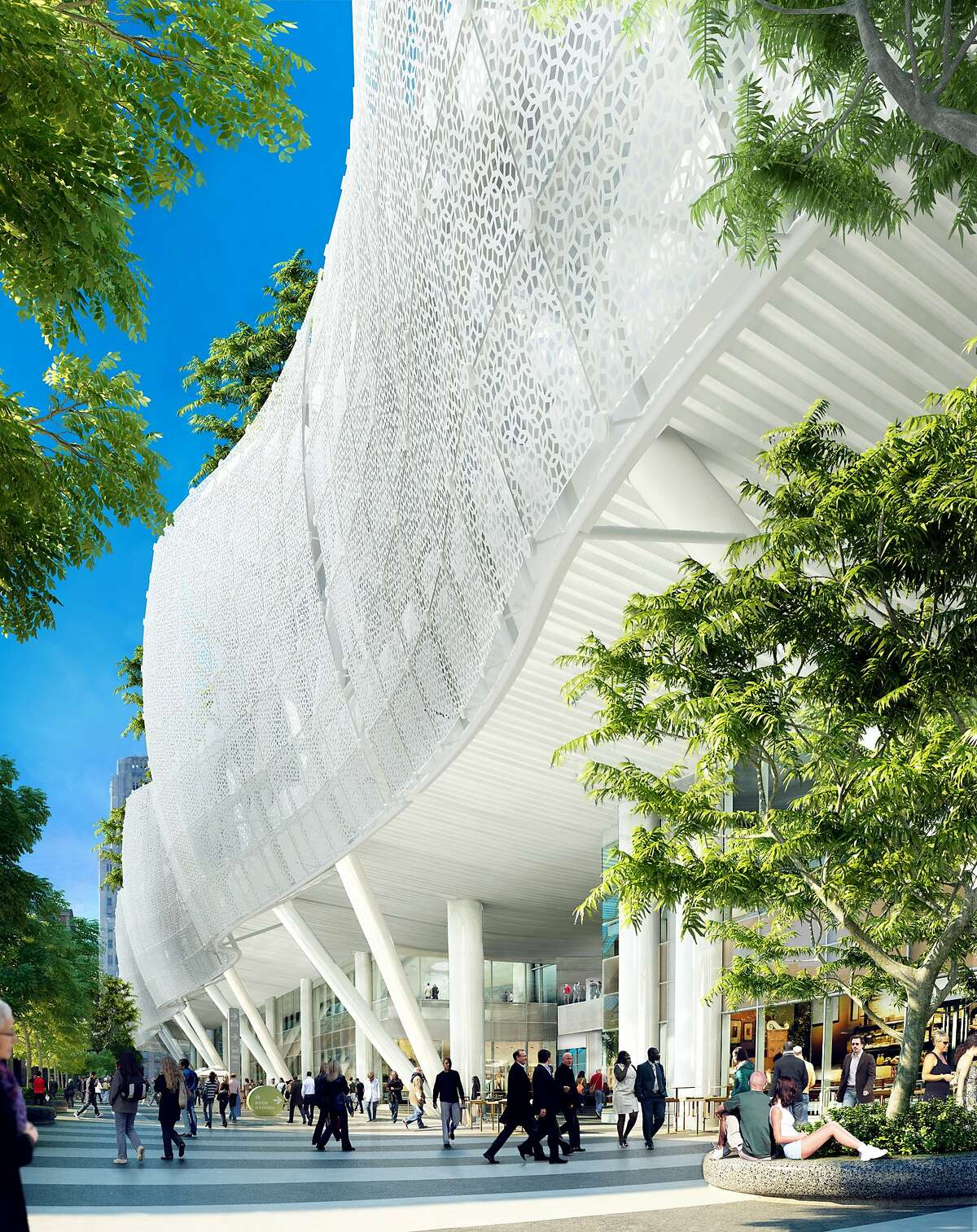 The final design -- as of July, 2015 -- of the exterior of the Transbay Transit Center, set to open in 2017.