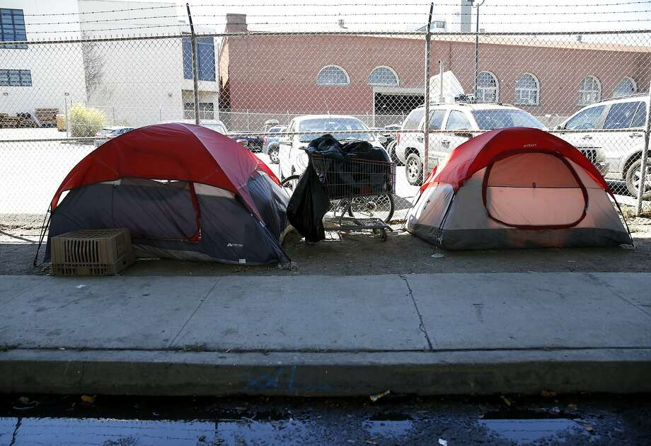 A small homeless encampment at Division and Bryant streets beneath the highway overpass in San Francisco, California, on Wednesday, Aug. 12, 2015. Photo: Connor Radnovich, The Chronicle