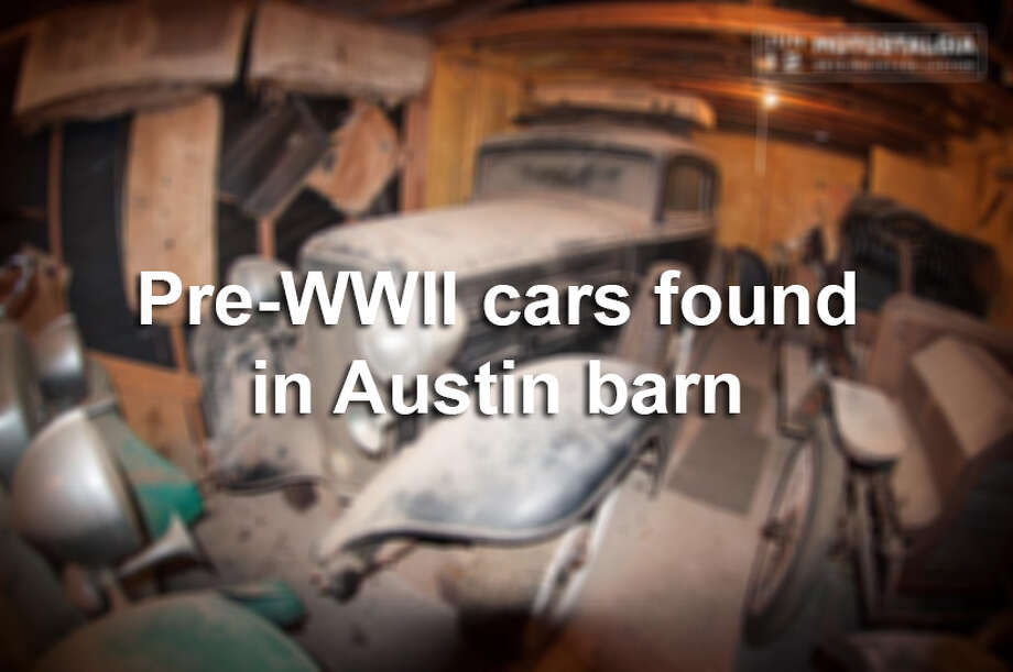 A car collector was shocked to find about $700,000 worth of vintage cars covered in dust in an Austin barn. Photo: Courtesy Photo/Motostalgia
