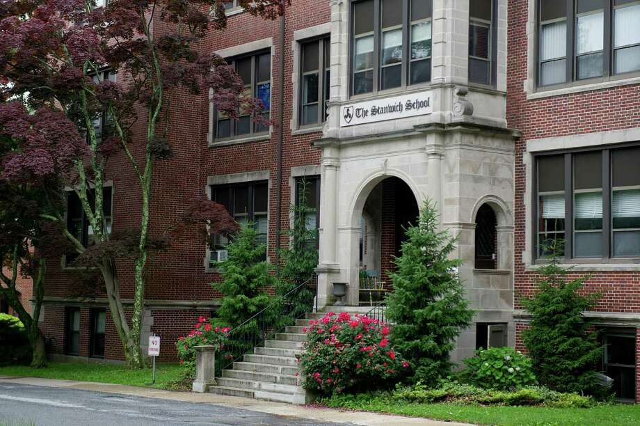 The former Sacred Heart Academy property at 200 Strawberry Hill Ave. is slated to become an extension of the Rogers International School. Photo: Lindsay Perry / Hearst Connecticut Media / Stamford Advocate