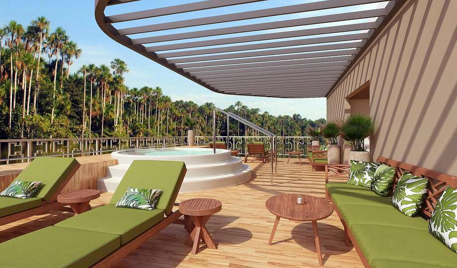 The new, 22-suite Amazon Discovery, which Haimark Limited will use to cruise Peru's Amazon River basin, includes a plunge pool. Photo: Haimark
