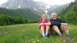 Ned Black and Monica Milstein of Mill Valley in the Upper Svaneti region of the Caucasus Mountains.