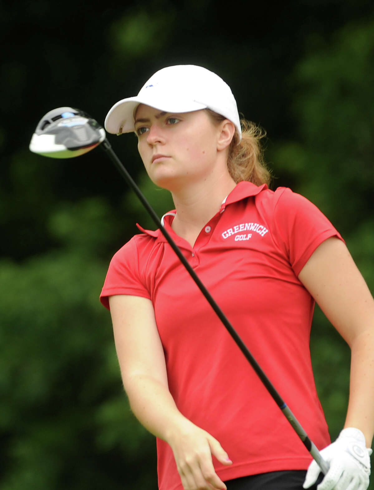 Greenwich's Catherine McEvoy is in within reach of the Connecticut Women's Amateur Championship ttitle