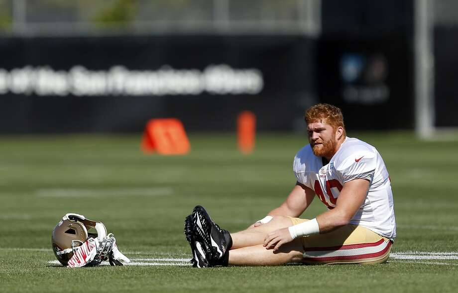 San Francisco 49ers' Bruce Miller during a practice at training camp in Santa Clara, Calif., on Wednesday, Aug. 12, 2015. Photo: Scott Strazzante, The Chronicle