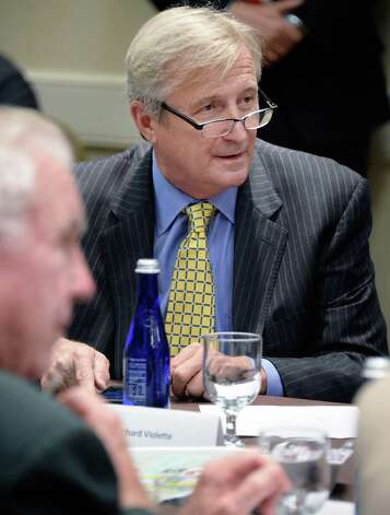 Richard A. Violette, Jr., during a NYRA board meeting at the Holiday Inn Wednesday August 12, 2015 in Saratoga Springs, NY.  (John Carl D'Annibale / Times Union) Photo: John Carl D'Annibale / 00032968A