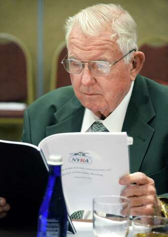 Chester F. Broman during a NYRA board meeting at the Holiday Inn Wednesday August 12, 2015 in Saratoga Springs, NY.  (John Carl D'Annibale / Times Union) Photo: John Carl D'Annibale / 00032968A