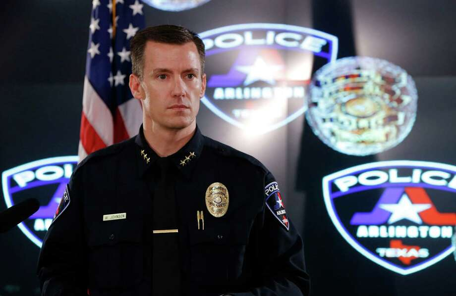 Arlington Police Chief Will Johnson gives more details in the shooting of Christian Taylor at a news conference on Tuesday, Aug. 11, 2015, in Arlington, Texas. (Rodger Mallison/Fort Worth Star-Telegram/TNS) Photo: Rodger Mallison, MBR / McClatchy-Tribune News Service / Fort Worth Star-Telegram