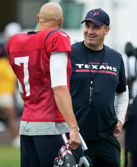 Texans coach Bill O'Brien has cast his lot with Brian Hoyer (7), a choice that's neither surprising or particularly inspiring for the team's fan base. Photo: Brett Coomer, Staff / © 2015 Houston Chronicle