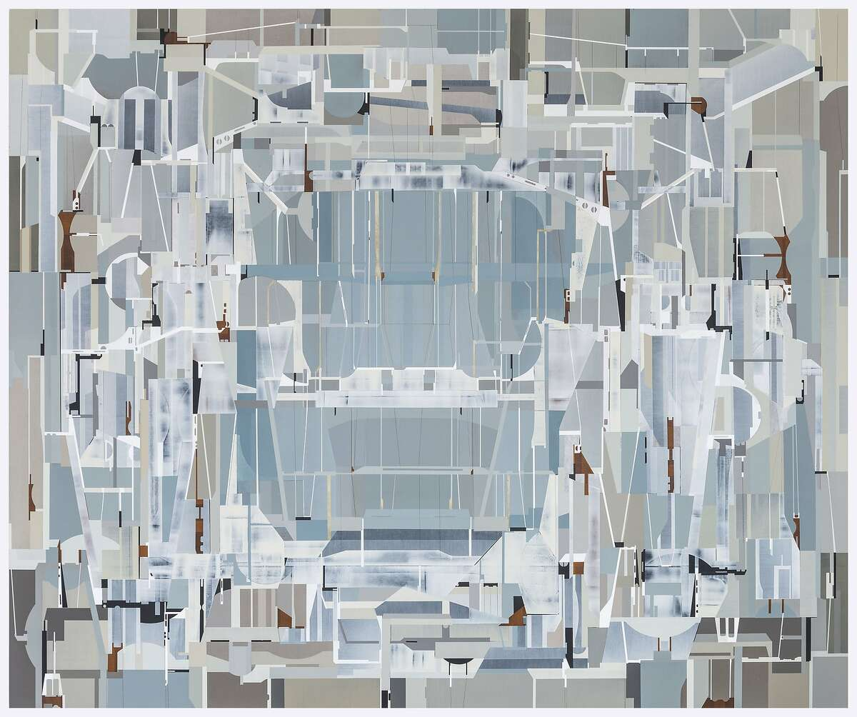"""James Kennedy?•s 64.5-by-76.5-inch acrylic ?'ATLAAS?"""" is featured in ?'Continuum?"""" at Dolby Chadwick Gallery through Aug. 29. Courtesy of Dolby Chadwick Gallery"""