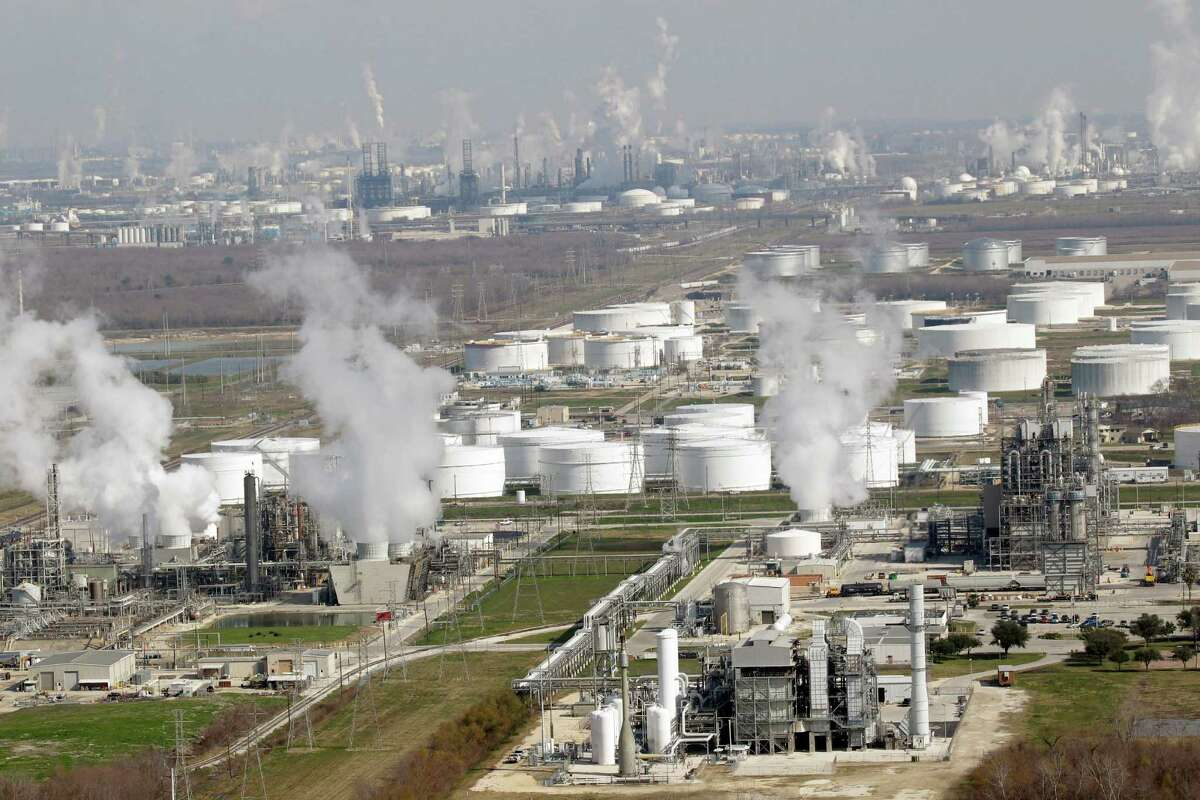 A new report says low oil prices eventually could slow the expansion of the Gulf Coast's mighty petrochemical industry.