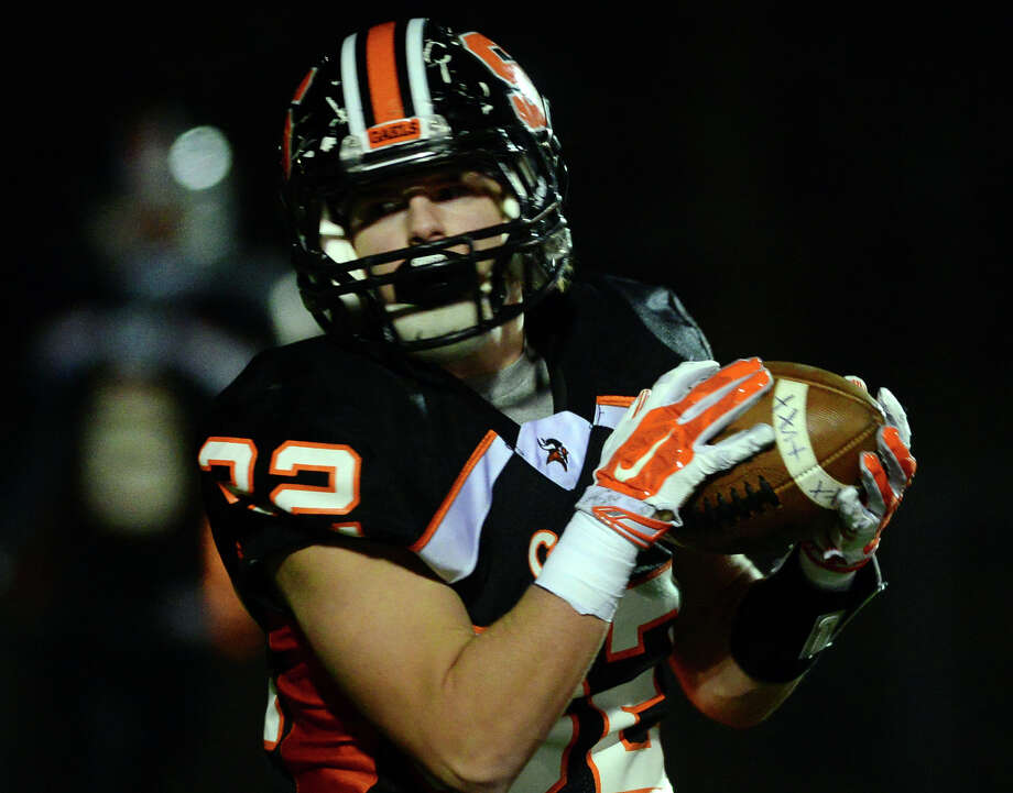 Shelton's Peter Hoff is expected to log a heavier workload this season after carrying 70 times for 594 yards in 2014. Photo: Christian Abraham / Christian Abraham / Connecticut Post