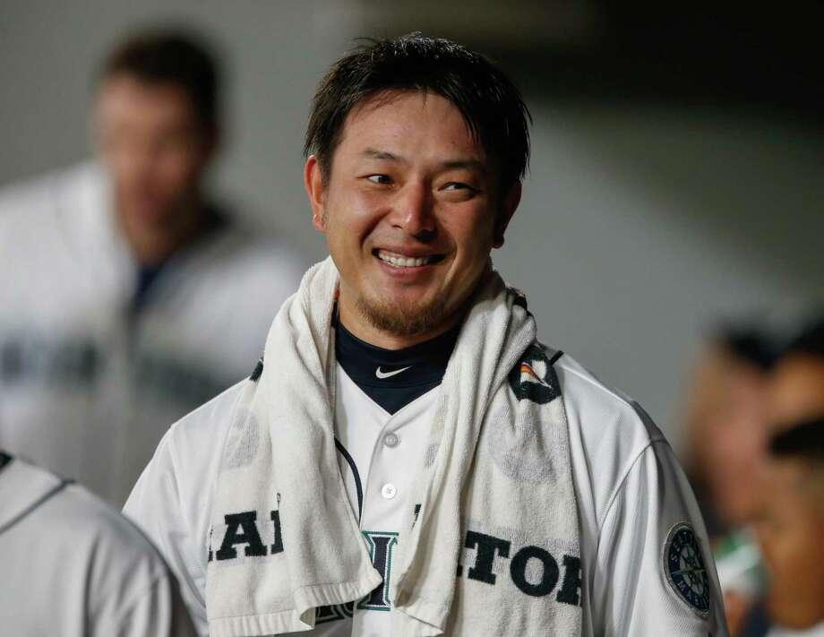 SEATTLE, WA - AUGUST 12:  Starting pitcher Hisashi Iwakuma #18 of the Seattle Mariners smiles in the dugout  after completing six innings no-hit ball against the Baltimore Orioles at Safeco Field on August 12, 2015 in Seattle, Washington.  (Photo by Otto Greule Jr/Getty Images) ORG XMIT: 538589329 Photo: Otto Greule Jr / 2015 Getty Images
