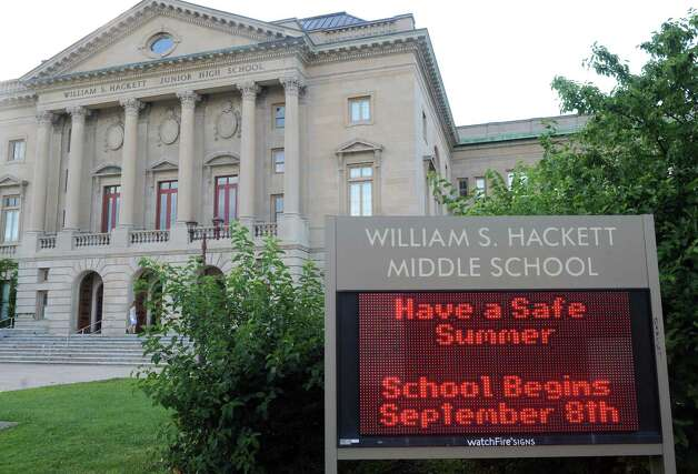 William S. Hackett Middle School on Wednesday Aug. 12, 2015 in Albany, N.Y. (Michael P. Farrell/Times Union) Photo: Michael P. Farrell / 00032931A