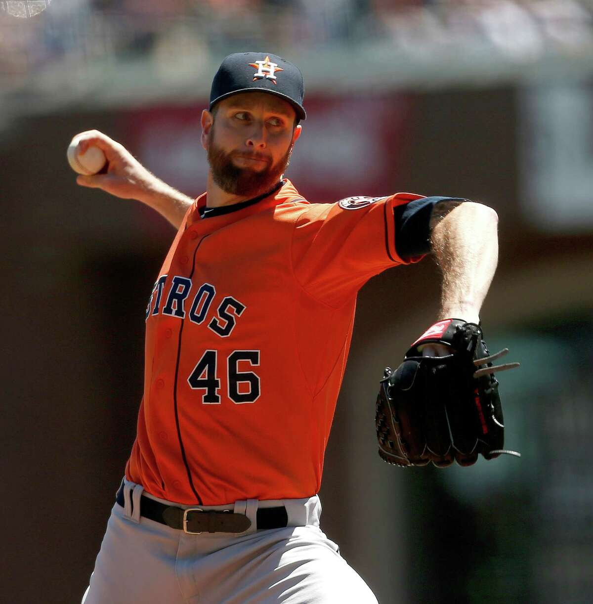 Astros starter Scott Feldman pitched six innings of scoreless ball Wednesday and turned it over to the bullpen to complete the shutout against the Giants.