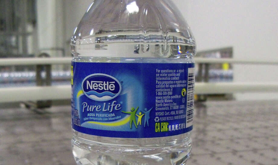 In the first half of 2015, Nestlé Waters saw double-digit growth internationally for its Nestlé Pure Life bottled water. Photo: Contributed Photo / ST / Greenwich Time Contributed