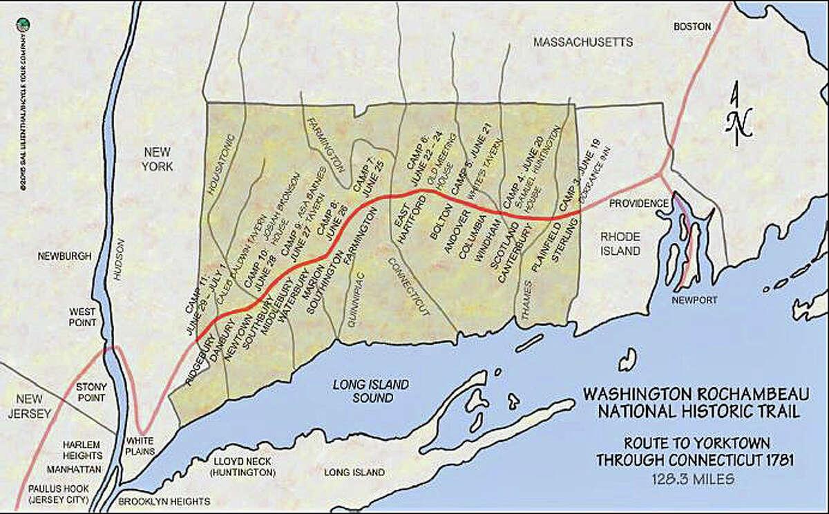 The Washington-Rochambeau National Historic Trail (Connecticut portion)