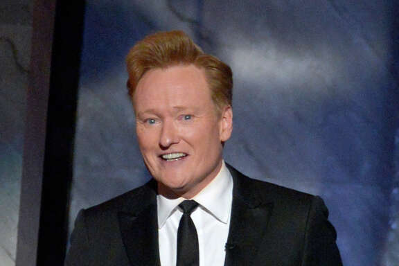 HOLLYWOOD, CA - JUNE 04:  TV personality Conan O'Brien speaks onstage during the 2015 AFI Life Achievement Award Gala Tribute Honoring Steve Martin at the Dolby Theatre on June 4, 2015 in Hollywood, California.  (Photo by Lester Cohen/WireImage)