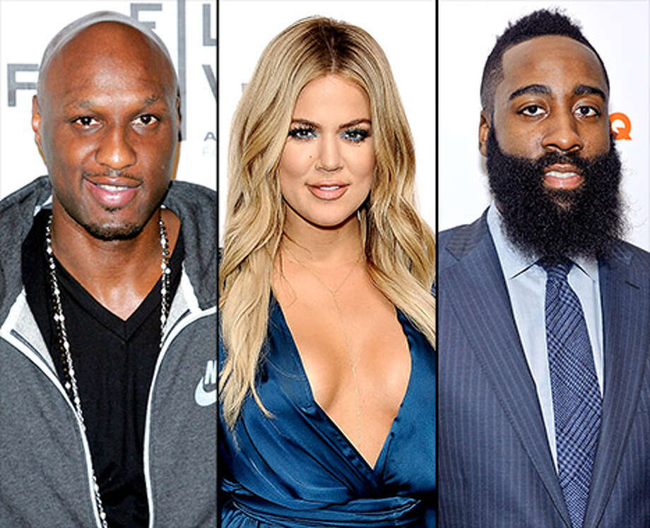Pictured above is Khloe Kardashian (center), her ex-husband Lamar Odom 
