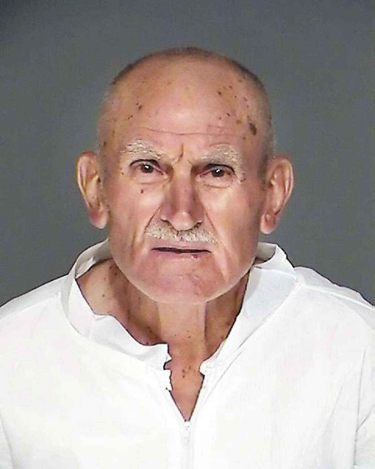 Gerardo Lombardi, 77, on trial for killing his ex-daughter-in-law, was convicted of first-degree manslaughter Friday in state Superior Court in Stamford. The photo is courtesy of the Greenwich Police Department and was taken in September 2008 after his arrest.