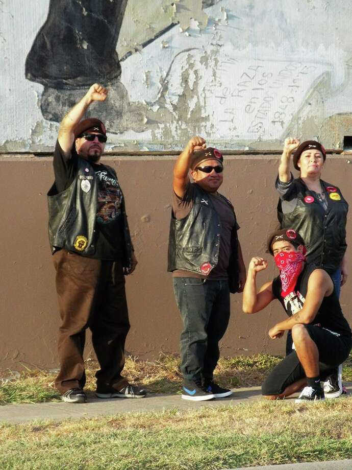 The Brown Berets were originally formed in the 1960s to promote Mexican-American rights. Photo: Brown Berets De Houston.- CNBB