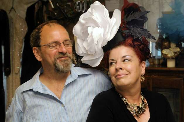 Maurita Smith and her husband Karl Smith on Wednesday Aug. 5, 2015 in Fort Johnson, N.Y. British-born Maurita Smith makes gorgeous hats, a skill she picked up while recovering from a traumatic injury. (Michael P. Farrell/Times Union) Photo: Michael P. Farrell / 10032863A