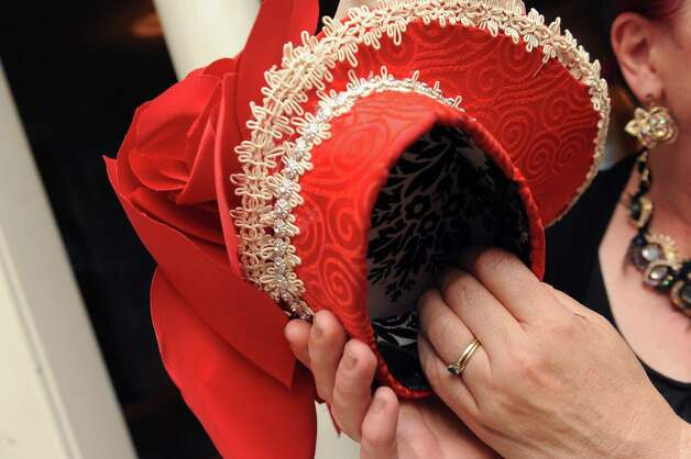 A hat made by British-born Maurita Smith a skill she picked up while recovering from a traumatic injury on Wednesday Aug. 5, 2015 in Fort Johnson, N.Y. (Michael P. Farrell/Times Union) Photo: Michael P. Farrell / 10032863A