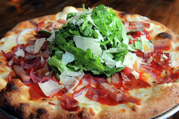 Italian mix pizza at Druthers Brewing on Thursday Aug. 6, 2015 in Albany, N.Y. (Michael P. Farrell/Times Union) Photo: Michael P. Farrell / 10032919A