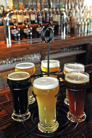 Beer sampler at Druthers Brewing on Thursday Aug. 6, 2015 in Albany, N.Y. (Michael P. Farrell/Times Union) Photo: Michael P. Farrell / 10032919A