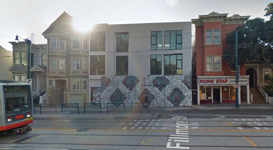 The new one-bedroom penthouse unit at 453 Duboce is causing quite a stir for its $6,500 price tag. (The image is  of the building pre-renovation.) See some other $6,500 rentals currently on the market in S.F. Photo: Google Maps