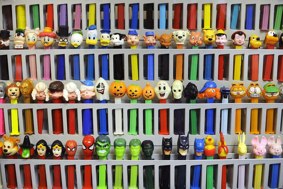 The Burlingame Museum of Pez Memorabilia displays examples of every Pez dispenser ever sold — more than 900 of them. Photo: Michael Short, Special To The Chronicle