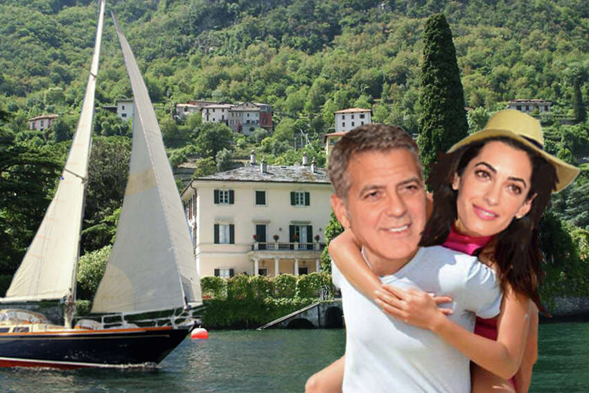 WHO: George Clooney and Amal Alamuddin WHERE: Lake Como, Italy STATUS: George Clooney and his power-lawyer bride Amal have plenty to celebrate this year. Sure, Clooney's