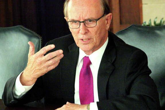 Judge Nelson Wolff talks to the San Antonio Express-News Editorial Board.