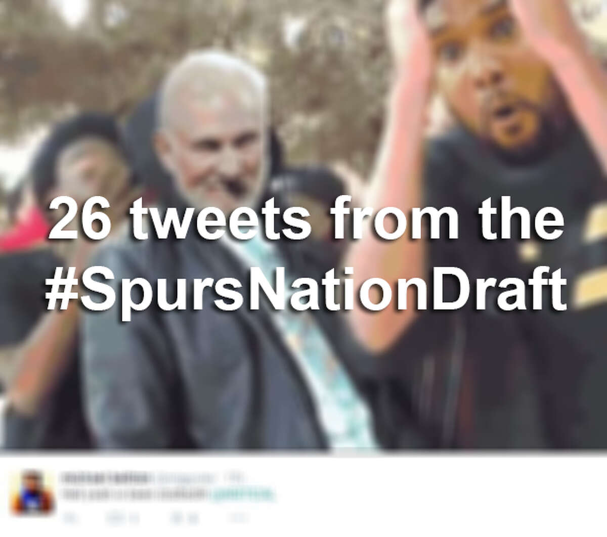 Click through the slideshow for some hilarious reactions to the #SpursNationDraft.