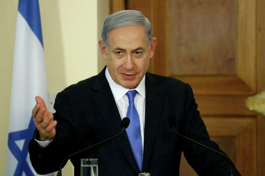 Israeli Prime Minister Benjamin Netanyahu Photo: Petros Karadjias /Associated Press / AP POOL