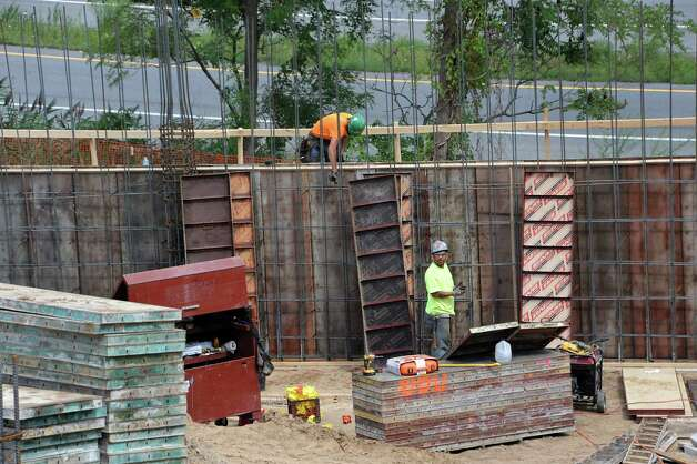 Construction continues on University Suites at SUNY Albany at 1475 Washington Ave. on Thursday, Aug. 13, 2015 in Albany, N.Y. The privatized student housing project seeks to house 277 full time students or staff from any area college. (Lori Van Buren / Times Union) Photo: Lori Van Buren / Albany