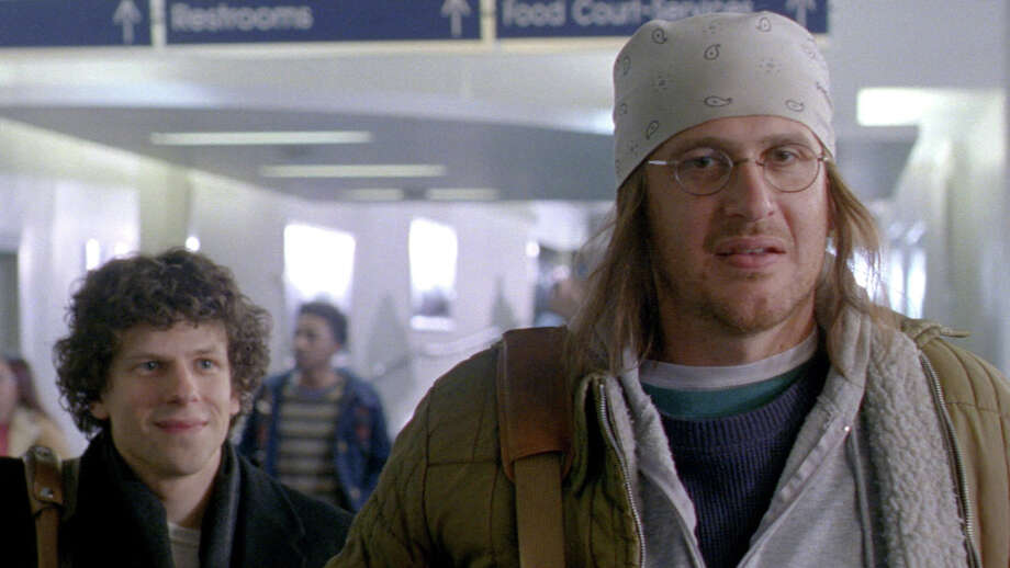 """The End of the Tour"" stars Jesse Eisenberg (left) as Rolling Stone writer David Lipsky and Jason Segel as author David Foster Wallace. Photo: Courtesy Photo / Connecticut Post Contributed"