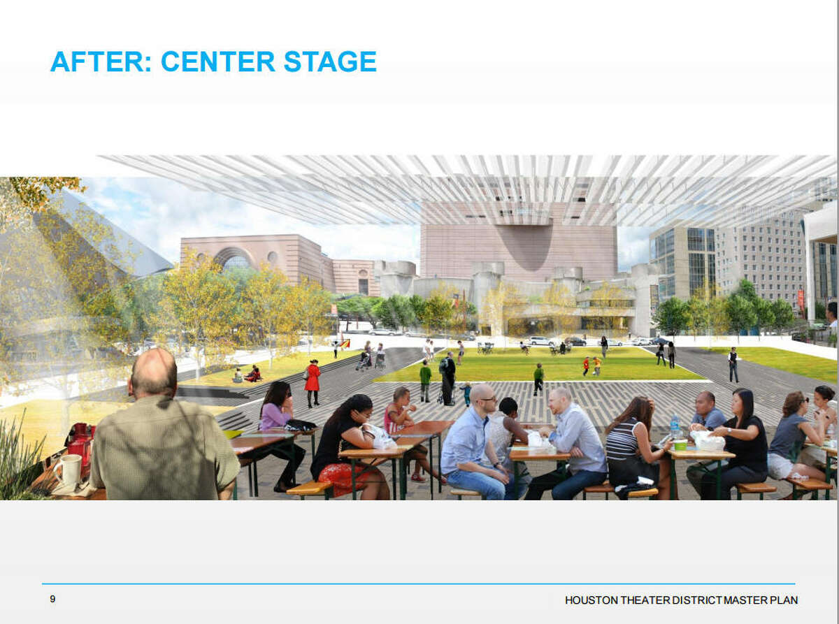 Houston First, a quasi-public agency, commissioned a master plan that aims to reinvent the Theater District by 2025.