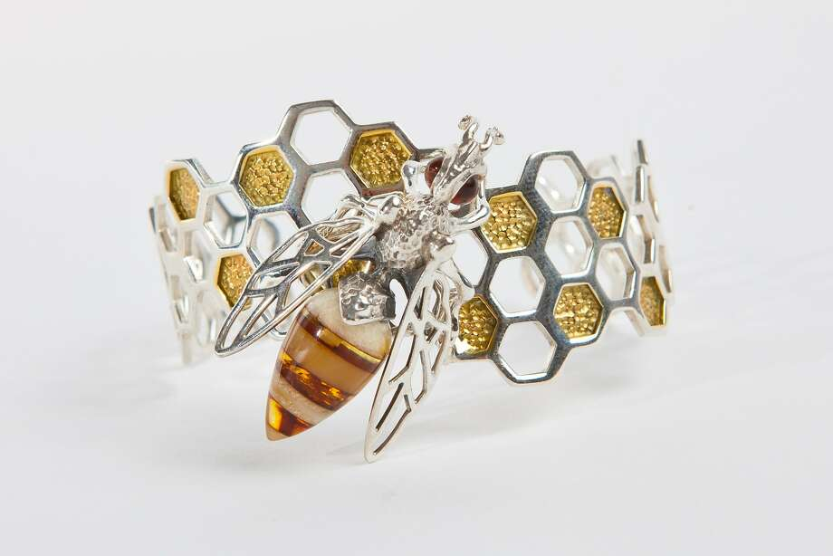 Honeycomb Bee Cuff, $350, from E. Shaw Jewels' Bee Collection. www.eshawjewels.com Photo: E. Shaw Jewels