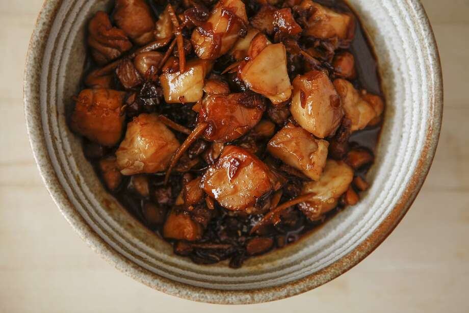 Claypot Fish with caramel sauce, a recipe from Charles Phan. Photo: Russell Yip, The Chronicle