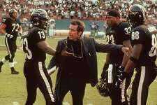 "377705 01: 1999 Al Pacino, Jamie Foxx and LL Cool J star in the movie ""Any Given Sunday."" (Photo Warner Bros. Pictures / Online USA)"