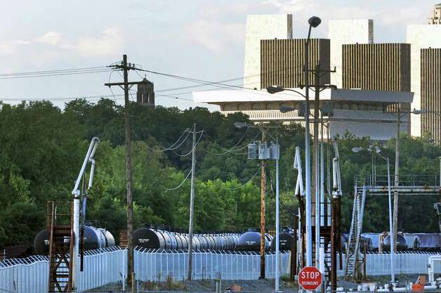 Oil tanker cars tucked away in the Port of Albany on Thursday Aug. 13, 2015 in Albany, N.Y. (Michael P. Farrell/Times Union) Photo: Michael P. Farrell / 00032993A