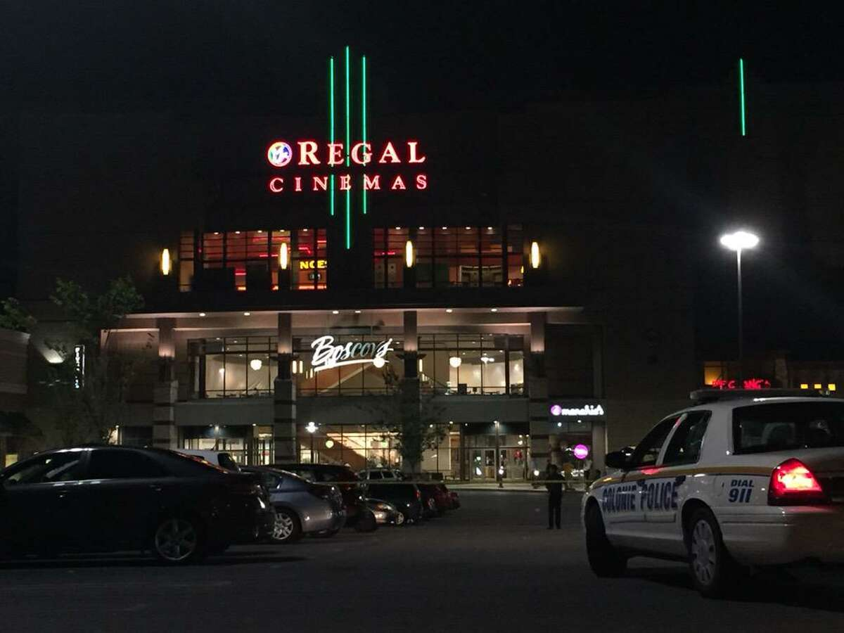 Police investigate a shooting outside Colonie Center near the entrance to Regal Cinemas after 10 p.m. Thursday, Aug. 13, 2015. (Cindy Schultz/Times Union)