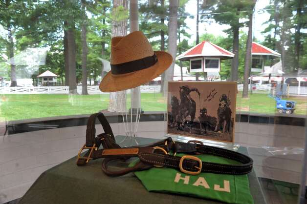 A display to honor legendary trainer Allen Jerkens one of many to be on display in the new Saratoga Walk of Fame pavilion at Saratoga Race Course on Tuesday July 21, 2015 in Saratoga Springs, N.Y. (Michael P. Farrell/Times Union) Photo: Michael P. Farrell / 00032704A