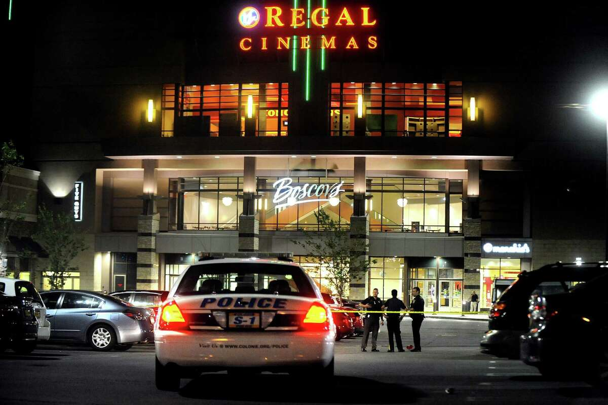 Colonie police, State Police, Albany County Sheriff's deputies, and police from Troy and Guilderland responded to a shooting scene outside Colonie Center shopping mall in Colonie, N.Y.on Thursday, Aug. 13, 2015. (Cindy Schultz / Times Union)