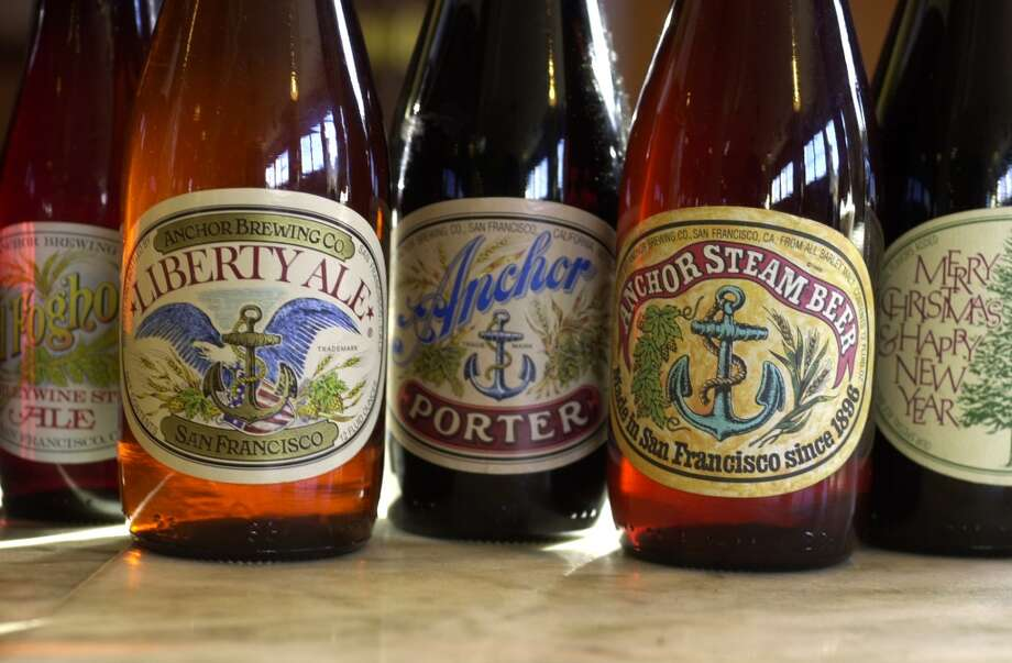 Some of the beers at Anchor Brewing.  Photo dated 1/21/04 Photo: Craig Lee, The Chronicle