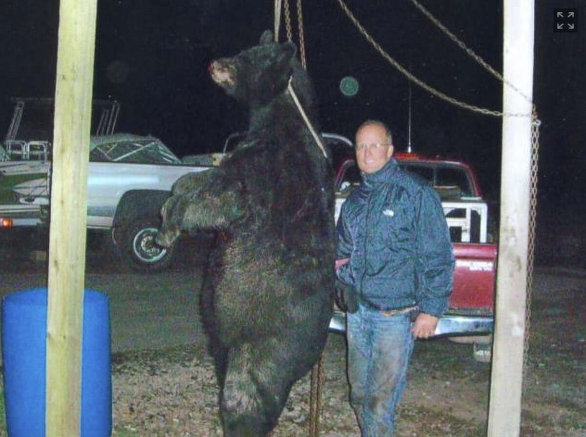 Palmer shot the black bear with a bow and arrow. He later pleaded guilty to a felony charge in connection with the hunt.