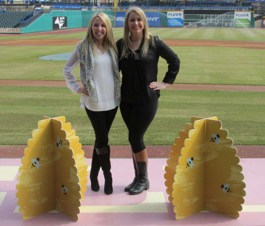 Spelling Bee chairs Alysse Harrison, left, and Holly Kaminga are excited about the change of venue for this year's bee.  It will be held for the first time at Constellation Field. Photo: Literacy Council Of Fort Bend