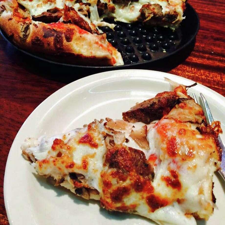 Giovanna's Meatball deep-dish pizza ($9.95) at Spanky's Photo: Syd Kearney