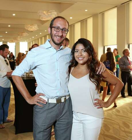 Sam Cole and Farrah Akhtar Photo: Jon Shapley, Staff / © 2015 Houston Chronicle